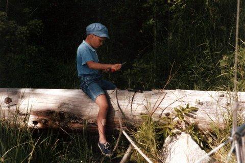 Her snitter jeg en pil eller et spyd. (Jacob 8 år)