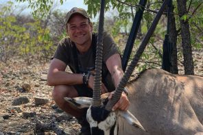 Oryxjagt i Namibia