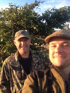 Udemærket selfie af Henning og jeg, som der var masser af tid til!